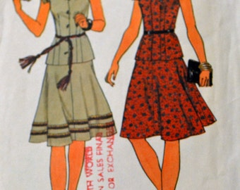 Vintage 1976 Sewing Pattern Simplicity 7520  Misses' Jiffy Dress Bust  34-36 Complete