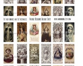 Vintage Religious Sacred Heart No. 5 Digital Download Collage Sheet of 1x1 inchies and 1x2 rectangles - INSTANT DOWNLOAD