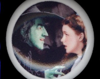 Wizard of Oz DOROTHY and the WICKED WITCH Ceramic Drawer Knob