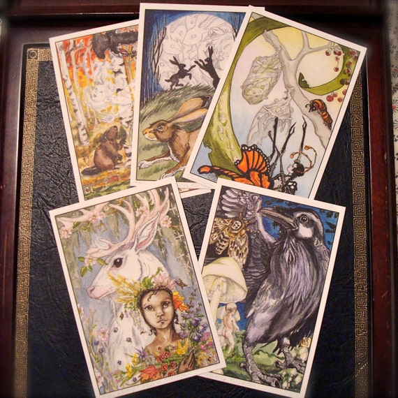 Tarot MYSTERY DRAW from The Stolen Child Tarot, single card print