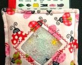 I Spy Bag - Mini with SEWN Word List and Detachable PICTURE LIST- Lovely Ladybugs