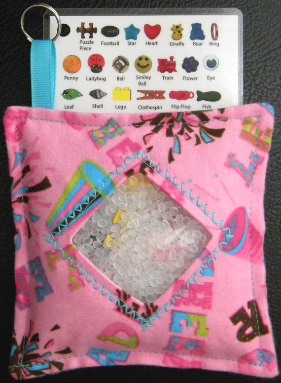 I Spy Bag - Mini with SEWN Word List and Detachable PICTURE LIST- Cheerleader Spirit