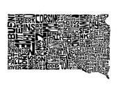 South Dakota - typography...