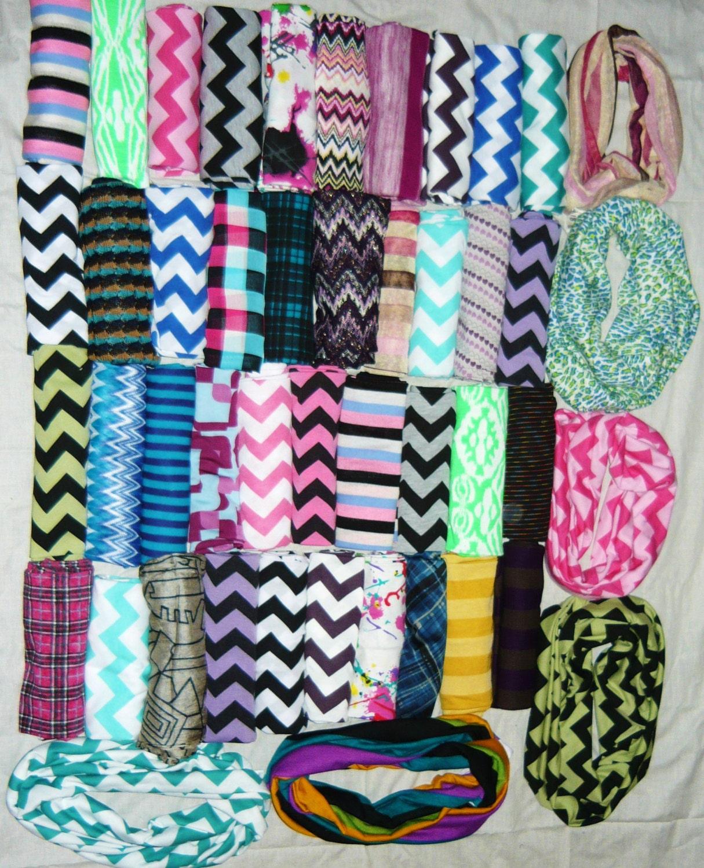 wholesale chevron infinity scarves lot of 5 bulk cotton
