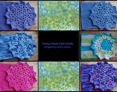 Pretty Petals Dishcloth Pattern- PDF