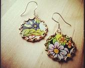 UNSEASONABLY WARM Tea Tin Floral Earrings