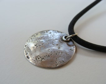 Sterling Dog Tab Leather Necklaces