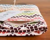 Organic Baby Blanket in POLKA DANCE, Multi-Color Chevron Polka Dots Organic Baby Blanket Gift by Organic Quilt Company