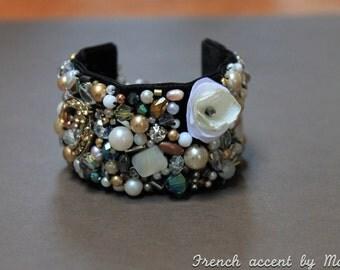 Beaded bracelets, cuff bracelets, statement bracelets, wedding jewelry, New Years eve bracelets, bridal bracelets, FREE SHIPPING