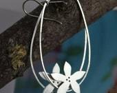 Jasmine oval hoop sterling silver earrings, large hoops, delicate, feminine, bridal, bridesmaids, mothers day