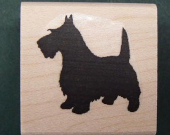 P5 Scotty Dog silhouette rubber stamp