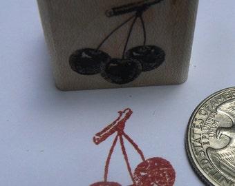 """P24 cherries rubber stamp WM 0.8x0.9"""""""