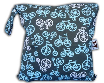 HEAT SEALED and BEST Selling Wet Bags here -Large Wet Bag in Bike Ride with Snap Handle