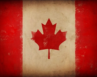 Canada Maple Leaf Canadian Flag art graphic art on canvas by Stephen Fowler