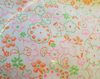 Vintage Cotton Blend Sheer Nightie Weight Pretty Summer Colors Baby Doll Sheer and Light  it's Sweet 3 yards by 44 wide