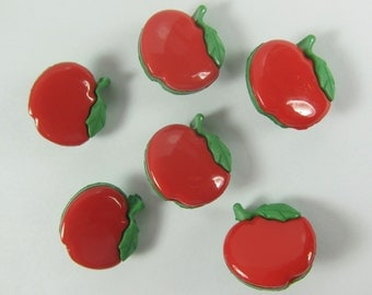 Red Apple Novelty Buttons