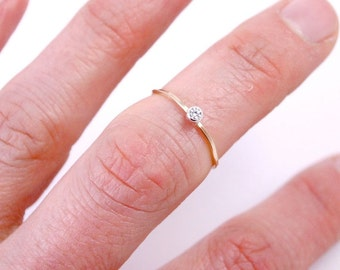 Stacking Ring with Bling, Cubic Zirconia