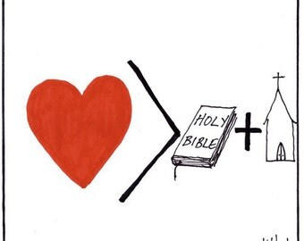 love is greater than PRINT