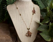 Soapstone Ohm Lariat with Swarovski Crystals and Copper