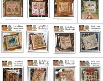 Little House Needleworks 'Christmas Ornaments 2012' all 12 charts