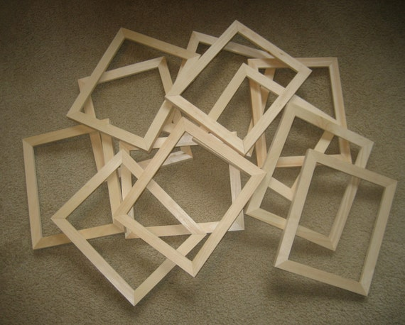 unfinished wood picture frames lot of 12 2x2 6x6 etc 5