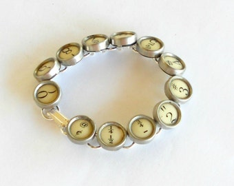 Typewriter Key Jewelry, Bracelet.  Numbers. Retro. Recycyled. Reclaimed. Vintage. Custom Orders Welcome.