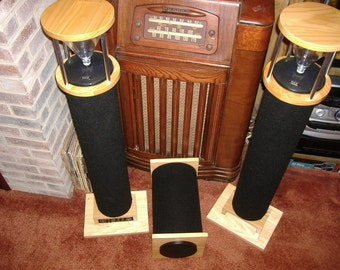 Tall Glass Top speaker system