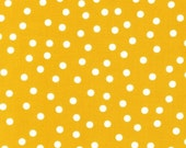 Remix Polka Dots fabric by Ann Kelle for Robert Kaufman- Remix Basic Dots in Summer Yellow. You Choose the Cuts, Free Shipping Available