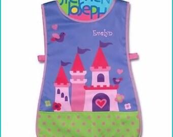 Personalized Stephen Joseph Princes Castle Apron SmockPaint, Craft, Artist Apron, Childrens Craft Apron, Coverup, Washable, Art Apron,