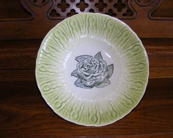 1950's Vintage Green Rose Bowl