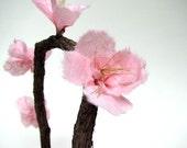 Rustic Sakura Pink Cherry Blossom Cake Topper by Tanja Sova