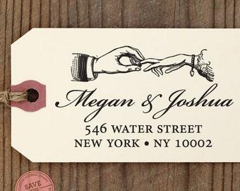 CUSTOM ADDRESS STAMP with proof from usa, Eco Friendly Self-Inking stamp, rsvp address stamp, custom stamper, wedding ring custom stamp 70