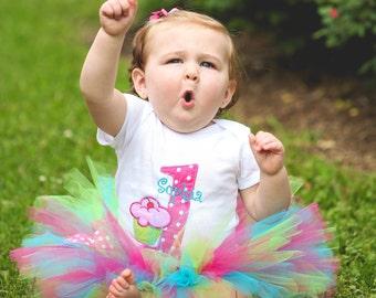 Baby Girl 1st Birthday Outfit - First Birthday Tutu - Cupcake Birthday - Cake Smash Outfit