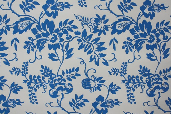 Blue And White Flower Wallpaper: Unavailable Listing On Etsy