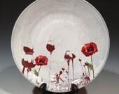 Poppy platter with layered glaze