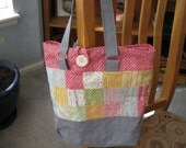 New Spring tote made with Noteworthy fabric designed by Sweetwater for Moda