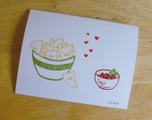 Chips Love Salsa Single Notecard