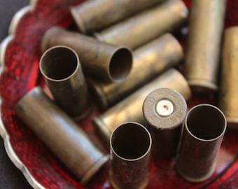 Empty brass shell casings - 32x13mm (12)