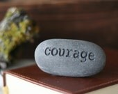 Courage - Engraved Inspirational Word on Rock - Ready To Ship Gift