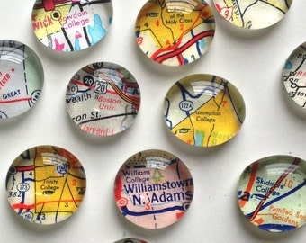 Vintage Map Magnets - NEW Colleges and Universites