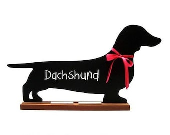 DACHSHUND CHALKBOARD - Smooth, Long-haired, Wired - A Pet Lover Favorite