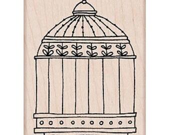 Birdcage Rubber Stamp • Birdcage Stamp (K5343)
