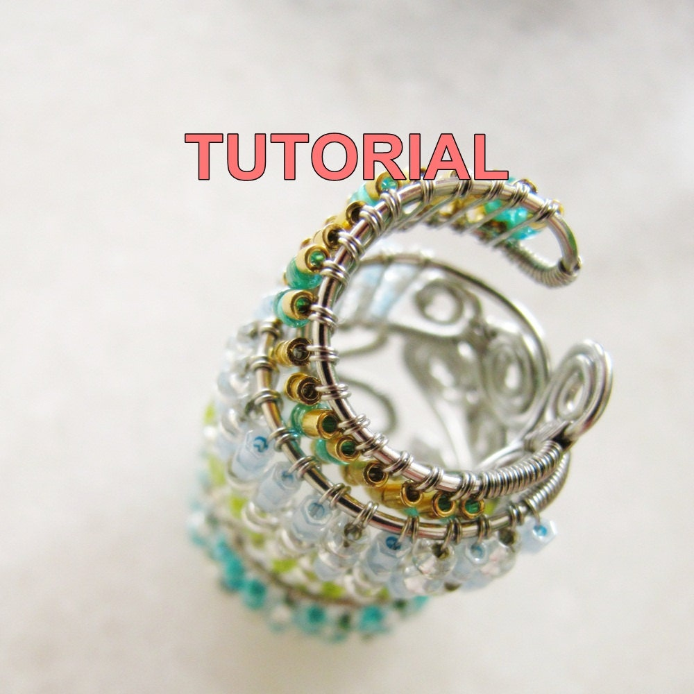 Wire Wrapped Ring Tutorial : Wire jewelry tutorial adjustable wrapped ring seed