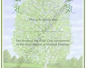 Customized Reiki Certificate Templates - Tree
