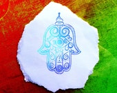 Embellished Hamsa clear polymer rubber stamp