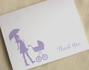 Baby Thank Yous  - Set of 25 Maternity Thank You Cards - Choose Color