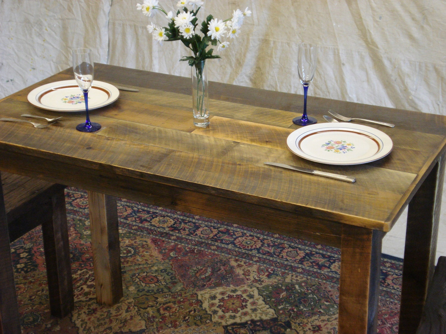 Counter Height Farm Table : Farmhouse Counter Height Table 62 x 24 x 36H by DriftwoodTreasures