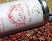 Valentine Tea Loose Leaf Herbal Tea, Tea, Tisane, Tea in Tin, Gift Tea, Loose Tea, Caffeine Free, Sugar Free, Valentine, Love, Heart