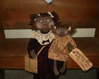 DOLL PATTERN 16 Inch Mom Doll and 9 inch Baby Doll Raggedydays 171 My Mother My Friend NEW