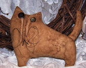 INSTANT Download Pattern Barncat Barney PRIMITIVE CAT  Quick and Easy, Fun to Make